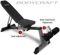 Bodycraft F320 Flat to Incline to Decline Pop-Pin Utility Bench